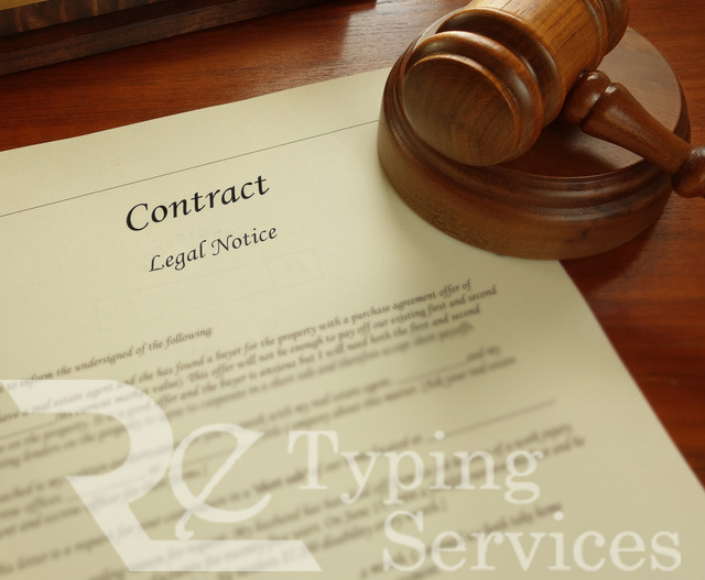 legal documents typing